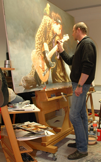 Kruger at work in his studio
