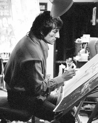 Ronnie at work in his studio
